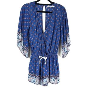 Faithfull the Brand Floral Yacht Romper w/ Pockets